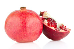 Open pomegranate with seed Stock Photography
