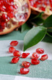 Open pomegranate with seeds Royalty Free Stock Image