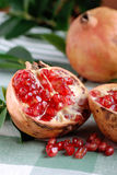 Open pomegranate with seeds Royalty Free Stock Photography