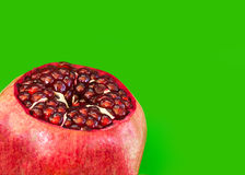 Open Pomegranate with seeds Stock Images