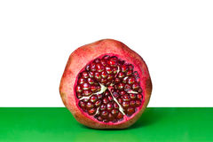 Open Pomegranate with seeds Royalty Free Stock Photo
