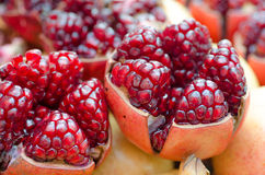 Open Pomegranates Stock Photos