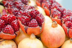 Open Pomegranates Stock Image
