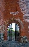 Open poort aan het kasteel Royalty-vrije Stock Afbeelding