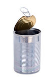 Open pop top can Stock Image