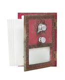Open Post Office Box Door - Red with Envelopes Stock Photo
