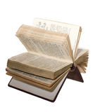 Open Prayer Book. In Hungarian language isolated on white background Stock Images