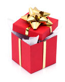 Open present in box Royalty Free Stock Photos
