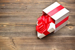 Open present box Stock Photo