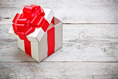 Open present box Royalty Free Stock Photos
