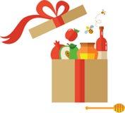 Open present box for Rosh Hashanah Stock Photo