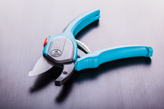 Open Pruning shears Stock Photography