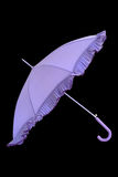 Open purpere geïsoleerdek paraplu Royalty-vrije Stock Afbeelding