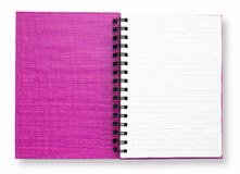 Open Purple Note Book Stock Photography