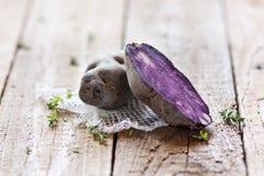 Open purple potato Royalty Free Stock Image