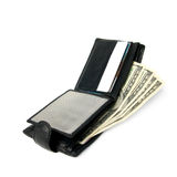 Open purse with dollars. royalty free stock images
