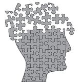 Open puzzle brain Royalty Free Stock Photography