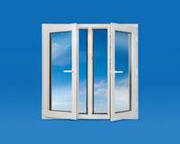 Open Pvc Windows Royalty Free Stock Photos