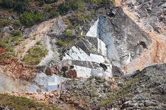 Open quarry in mountain Royalty Free Stock Photography