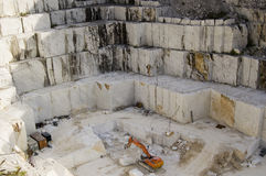 Open quarry of white marble royalty free stock images