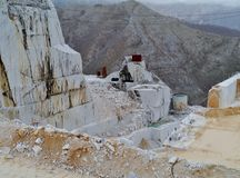 An open marble pit mine in Carrara Royalty Free Stock Photography