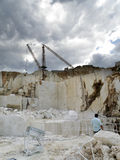 Open quarry of white marble. On the east coast of Sardinia, Orosei Stock Images