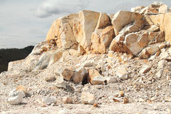 Open quarry of white marble Royalty Free Stock Image