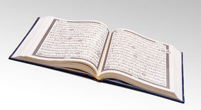 Open Quran. Wide Open Holy Quran Book stock photography