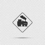 Symbol open railroad crossing sign on transparent background royalty free illustration