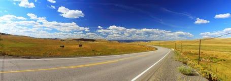 Open Ranchland in Nicola Valley dichtbij Kamloops, Brits Colombia Royalty-vrije Stock Foto