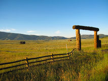 Open range outside yellowstone entering Montana Stock Photo