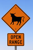 Open range sign Royalty Free Stock Photo