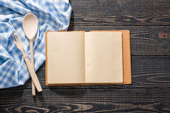 Open recipe boo Royalty Free Stock Photography