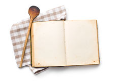 Open recipe book Stock Photography