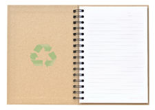 Open Recycle Notebook Stock Photography