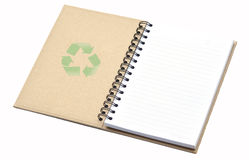 Open recycle notebook Stock Image