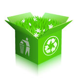 Open recycle shipping box Stock Images