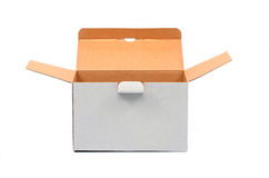 Open empty recycled cardboard box Stock Images
