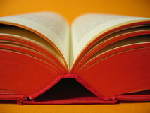 Open Red Book. An open red book royalty free stock image