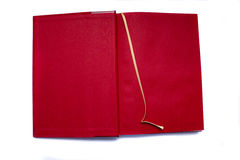Open red book Stock Images