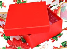 Open red box Stock Photography