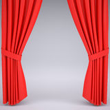Open the red curtain Stock Image