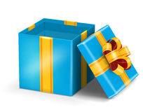 Open red gift Stock Images