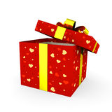 Open red gift box Stock Images