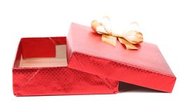 Open red gift box. Royalty Free Stock Photo