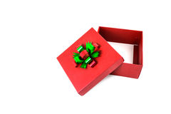 Open red gift box Royalty Free Stock Photo