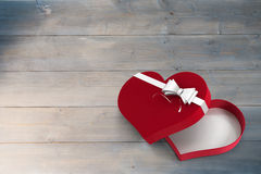Open red heart shaped candy box Royalty Free Stock Image