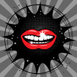 Open red lips abstract Royalty Free Stock Photography