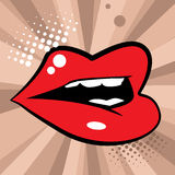 Open red lips Royalty Free Stock Photo