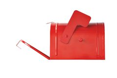 Open red mailbox Royalty Free Stock Photography